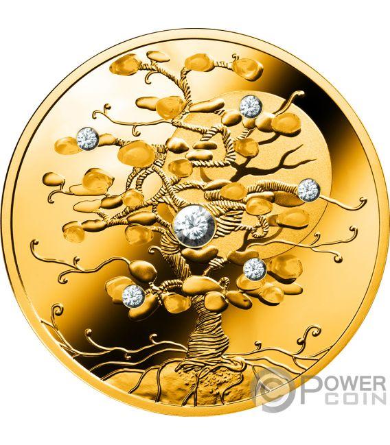 TREE OF LUCK Diamond 1.5 Oz Gold Coin 100$ Niue 2019