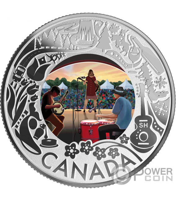 FOLK MUSIC Fun and Festivities Silver Coin 3$ Canada 2019