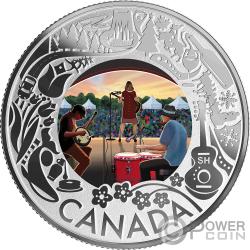FOLK MUSIC Fun and Festivities Silber Münze 3$ Canada 2019