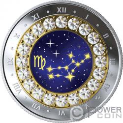 VIRGO Zodiac Swarovski Crystal Moneda Plata 5$ Canada 2019