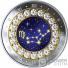 VIRGO Знак Зодиака Swarovski Кристалл Серебро Монета 5$ Канада 2019