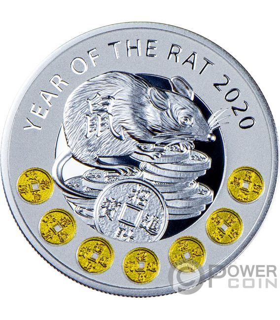 Year Of The Rat Chinese Calendar Silver Coin 1 Niue 2020