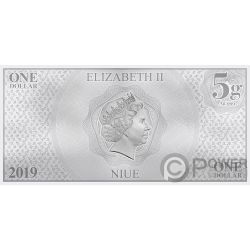 DONALD DUCK 85th Anniversary Disney Foil Silver Note 1$ Niue 2019