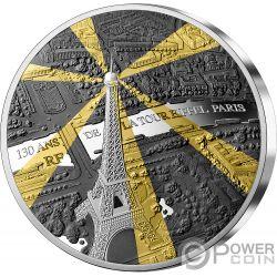 EIFFEL TOWER 130 Anniversario Tresors de Paris 5 Oz Moneta Argento 50€ Euro France 2019