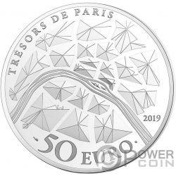 EIFFEL TOWER 130 Годовщина Tresors de Paris 5 Oz Монета Серебро 50€ Евро Франция 2019