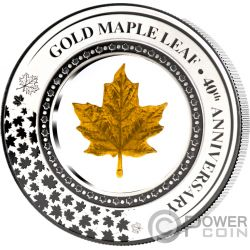 MAPLE LEAF Embracing Gold 2 Oz Silver Coin 5$ Solomon Islands 2019
