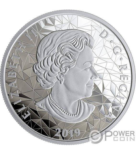 WOLF Multifaced Animal Head 1 Oz Silver Coin 25$ Canada 2019