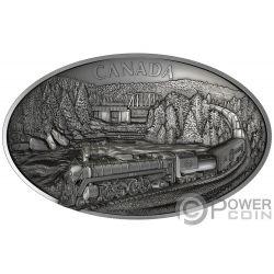 100TH ANNIVERSARY OF CN Concave Shape 1 Kg Kilo Silver Coin 250$ Canada 2019