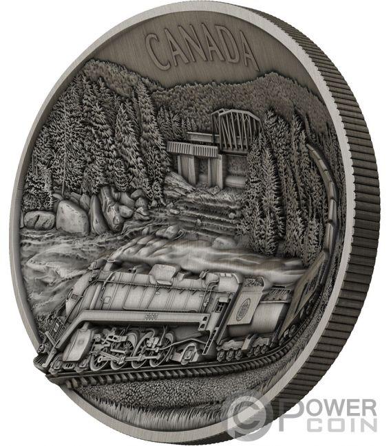 100TH ANNIVERSARY OF CN Forma Concavo 1 Kg Kilo Moneda Plata 50$ Canada 2019