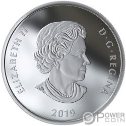 LIGHTS OF PARLIAMENT HILL 1 Oz Moneta Argento 20$ Canada 2019