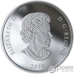 LIGHTS OF PARLIAMENT HILL 1 Oz Silber Münze 20$ Canada 2019