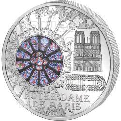 WINDOWS OF HEAVEN NOTRE DAME Parigi Cattedrale Moneta Argento 10$ Cook Islands 2011