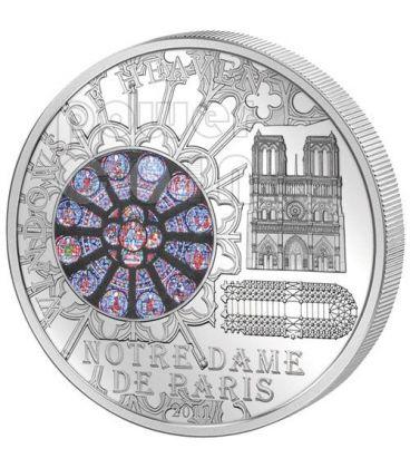 WINDOWS OF HEAVEN NOTRE DAME De Paris Silver Coin 10$ Cook Islands 2011