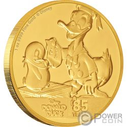 DONALD DUCK 85th Anniversary Disney 1 Oz Gold Coin 250$ Niue 2019