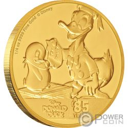 DONALD DUCK 85th Anniversary Disney 1/4 Oz Gold Coin 25$ Niue 2019