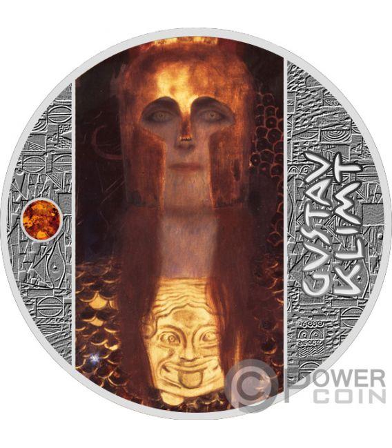 PALLAS ATHENE Spektrum Bernstein Gustav Klimt Golden Five Silber Münze 1$ Niue 2019