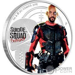 DEADSHOT Suicide Squad Dc Comics 1 Oz Moneda Plata 1$ Tuvalu 2019