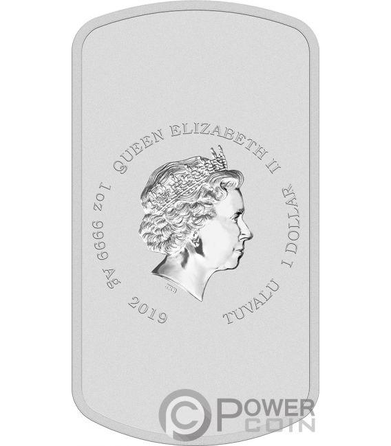 DUFF BEER Simpsons 1 Oz Silver Coin 1$ Tuvalu 2019