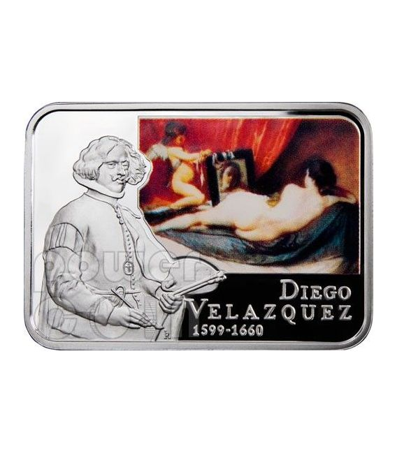 VELAZQUEZ Diego Venus at her Mirror Silver Coin 1$ Niue 2011