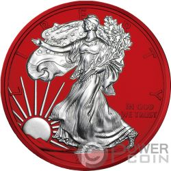 AMERICAN EAGLE Space Red Walking Liberty 1 Oz Silber Münze 1$ USA 2019
