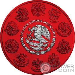 LIBERTAD Space Red 1 Oz Moneda Plata Mexico 2019