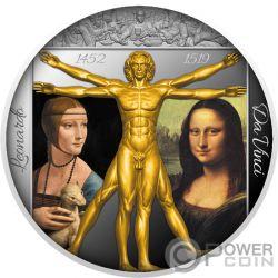 GENIUS RENAISSANCE Da Vinci 500 Jahrestag 1 Oz Silber Münze 2$ Niue 2019