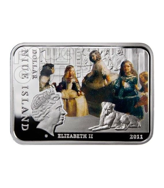 VELAZQUEZ Diego Venus at her Mirror Silber Münze 1$ Niue 2011