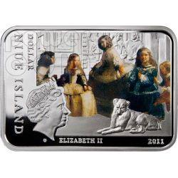 VELAZQUEZ Diego Venus at her Mirror Серебро Монета 1$ Ниуэ 2011