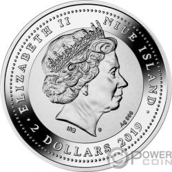 GENIUS RENAISSANCE Da Vinci 500 Anniversario 1 Oz Moneta Argento 2$ Niue 2019