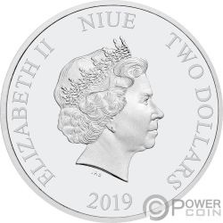 MISS PIGGY Muppets Disney 1 Oz Silver Coin 2$ Niue 2019