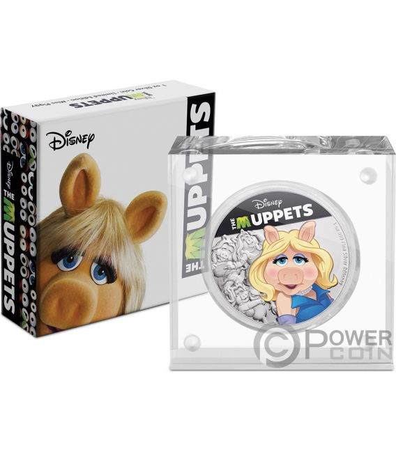 MISS PIGGY Muppets Disney 1 Oz Silver Coin 2$ Niue 2019