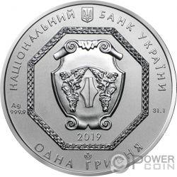 CHERNOBYL LIQUIDATORS Glow in the Dark 1 Oz Moneda Plata 1 Hryvnia Ukraine 2019