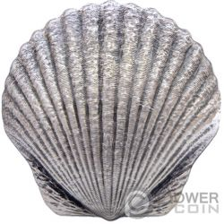SEASHELL Castaway 1 Oz Silver Coin 2$ Fiji 2019