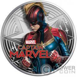 CAPTAIN MARVEL Marvel 1 Oz Moneda Plata 1$ Fiji 2019