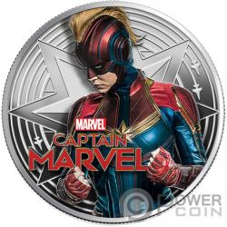 CAPTAIN MARVEL Marvel 1 Oz Монета Серебро 1$ Фиджи 2019