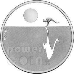 KANGAROO AT SUNSET Silver Coin Proof 1$ Australia 2011