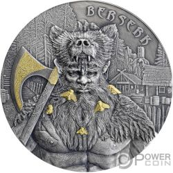 BERSERK Warriors Moneda Plata Chapado Oro 10 Mark Germania 2019