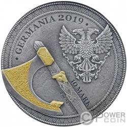 BERSERK Warriors Moneta Argento Placcatura Oro 10 Mark Germania 2019