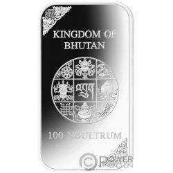 FOUR HARMONIOUS FRIENDS Freunde 4 Oz Silber Münze 100 Nu Bhutan 2019