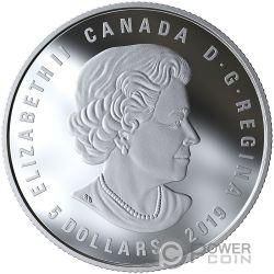 LIBRA Pfund Zodiac Swarovski Crystal Silber Münze 5$ Canada 2019