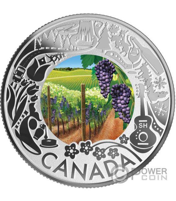 WINE TASTING Wein Fun and Festivities Silber Münze 3$ Canada 2019