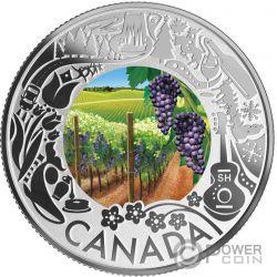 WINE TASTING Fun and Festivities Монета Серебро 3$ Канада 2019