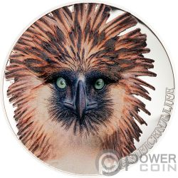 PHILIPPINE EAGLE Magnificent Life 1 Oz Серебро Монета 5$ Острова Кука 2019