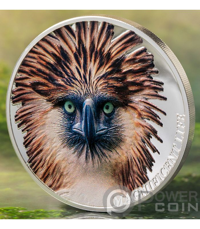 Cook Islands 2019 5$ Magnificent Life Philippine Eagle 1 Oz Silver Proof Coin