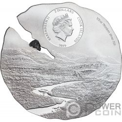ESTACADO Meteorito Meteorite Impacts Moneda Plata 2$ Cook Islands 2019
