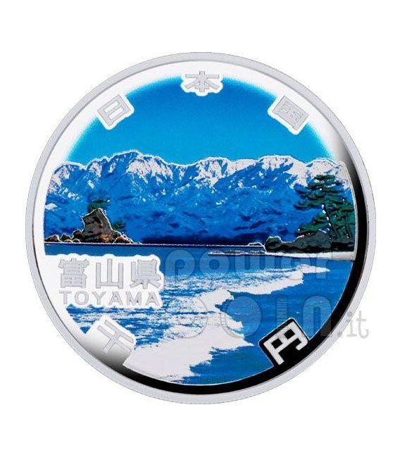 TOYAMA 47 Prefectures (14) Silber Proof Münze 1000 Yen Japan 2011