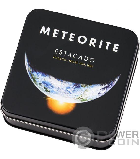 ESTACADO Meteorito Meteorite Impacts Moneda Plata 2$ Cook Islands 2019
