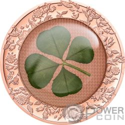 OUNCE OF LUCK Oncia Fortuna Four Leaf Clover 1 Oz Moneta Argento 5$ Palau 2020