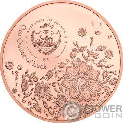 OUNCE OF LUCK Unze Glück Four Leaf Clover 1 Oz Silver Coin 5$ Palau 2020