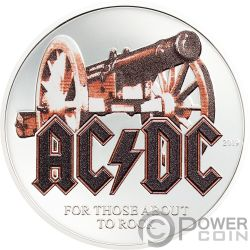 THOSE ABOUT ROCK ACDC 1/2 Oz Moneta Argento 2$ Cook Islands 2019